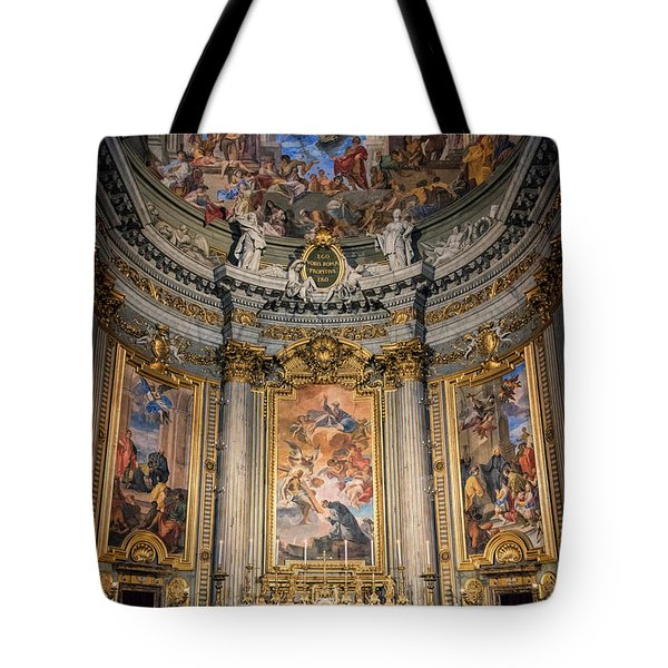 Tote Bag featuring the photograph Jesuit Church Rome Italy by Joan Carroll