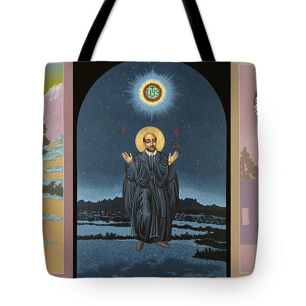 Jesuit Triptych-st Peter Faber-st Ignatius-st Francis Xavier Tote Bag