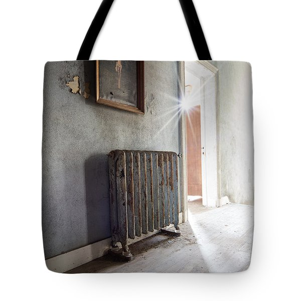 Jesus Above The Heater - Abandoned Building Tote Bag