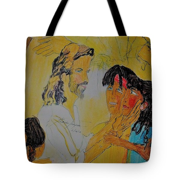 Jesus And The Children Tote Bag