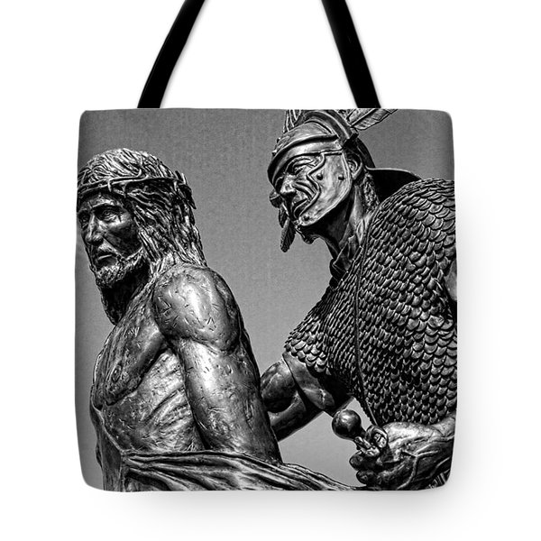 Jesus And The Roman Soldier Tote Bag