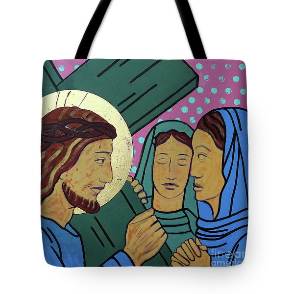 Jesus And The Women Of Jerusalem Tote Bag