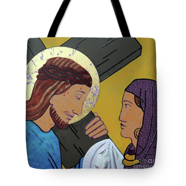 Jesus And Veronica Tote Bag