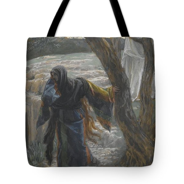 Jesus Appears To Mary Magdalene Tote Bag by Tissot