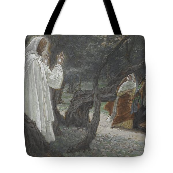 Jesus Appears To The Holy Women Tote Bag by Tissot