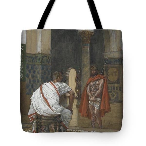 Jesus Before Pilate Tote Bag by Tissot