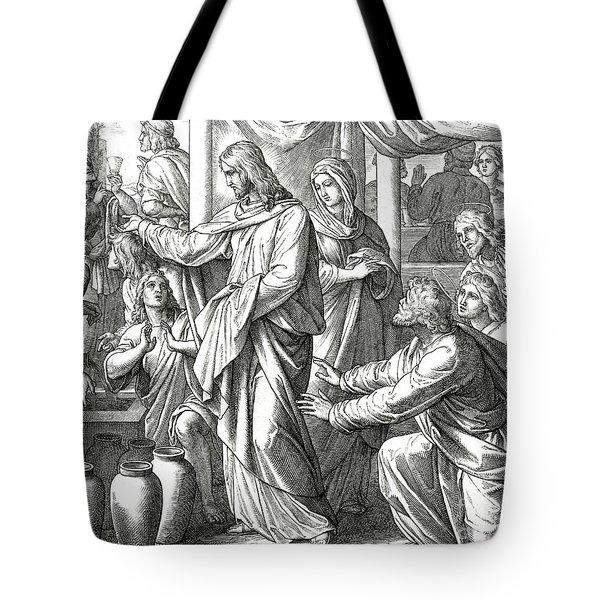 Jesus Changes Water Into Wine, Gospel Of John Tote Bag