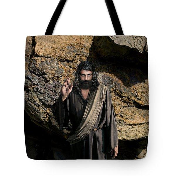 Jesus Christ- Be Blessed And Prosper Tote Bag