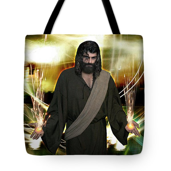Jesus Christ- God Shines In Glorious Radiance Tote Bag