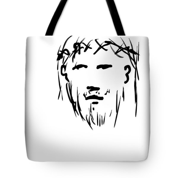Jesus Christ Head Tote Bag