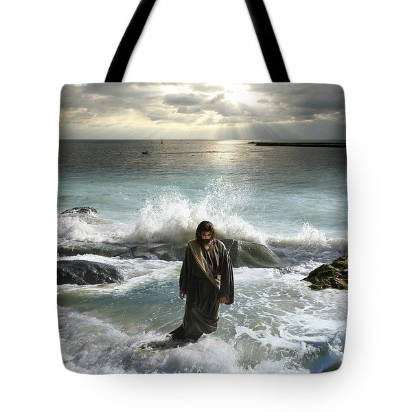 Jesus Christ- I Have Come As A Light Into The World Tote Bag