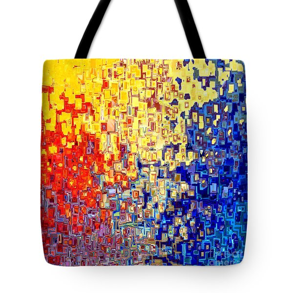 Jesus Christ The Light Of The World Tote Bag by Mark Lawrence