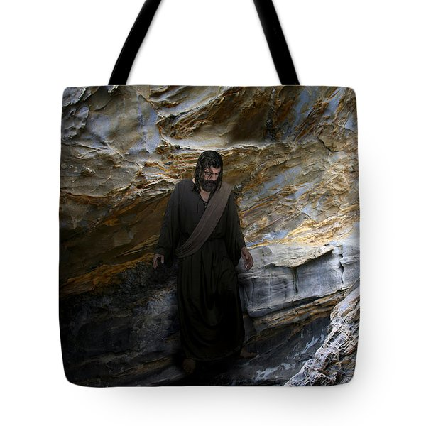 Jesus Christ- The Lord Is My Light And My Salvation Tote Bag