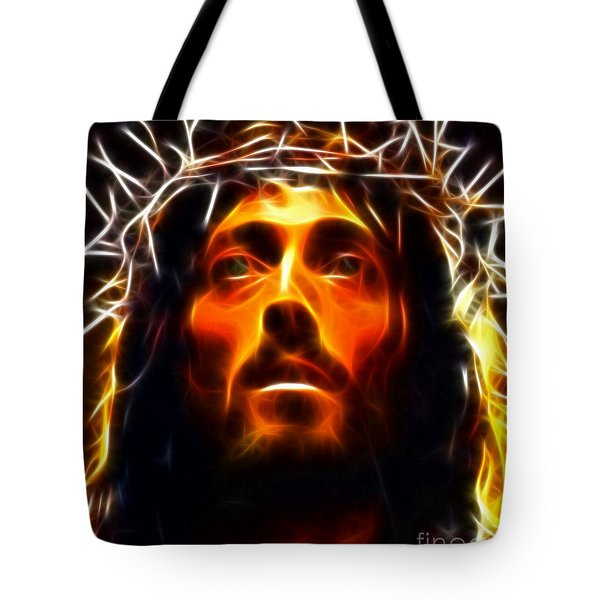 Jesus Christ The Savior Tote Bag