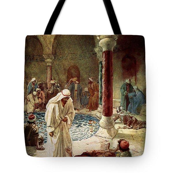Jesus Cures A Sick Man Tote Bag