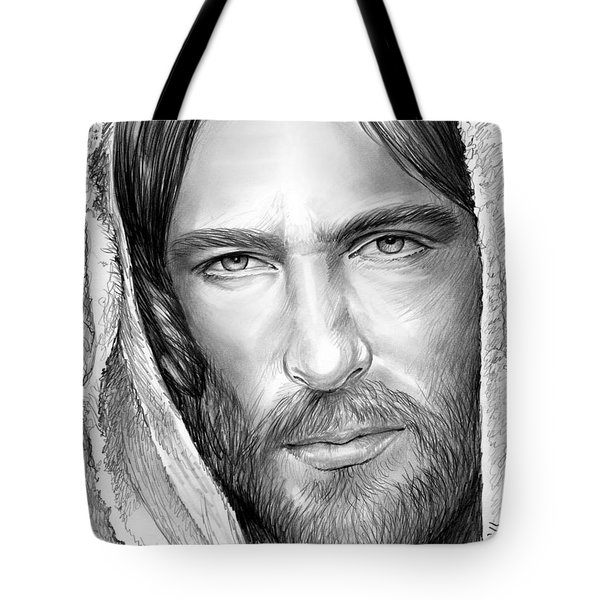 Jesus Face Tote Bag