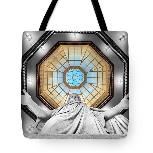 Jesus Halo Tote Bag