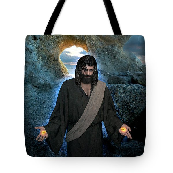 Jesus- I Am With You Always Tote Bag