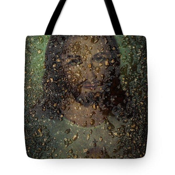 Jesus In Stone Tote Bag