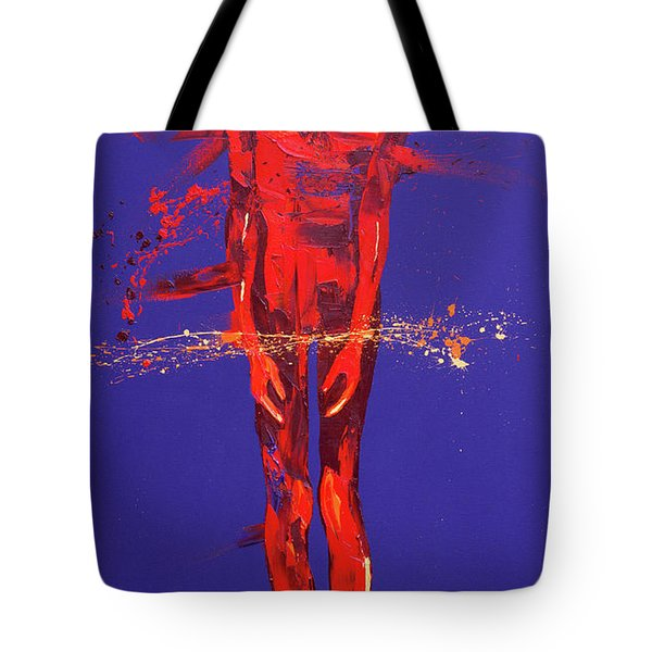 Jesus Is Condemned  Station 1 Tote Bag by Penny Warden