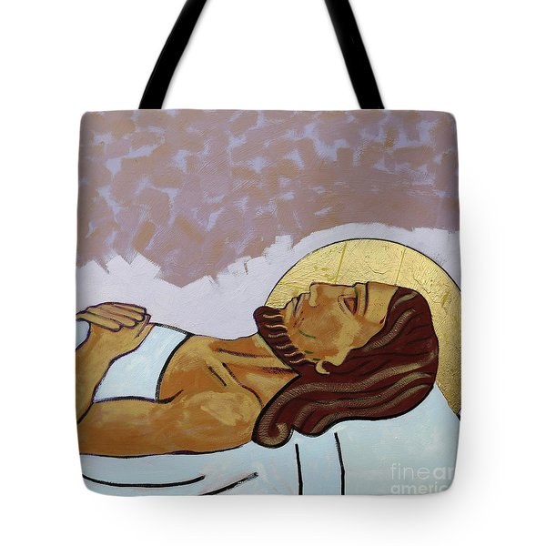 Jesus Is Laid In The Tomb Tote Bag