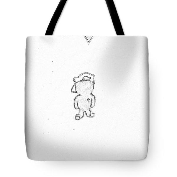 Jesus Kid /black On White Tote Bag