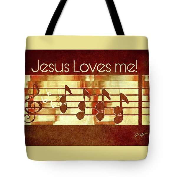 Tote Bag featuring the digital art Jesus Loves Me by Jennifer Page