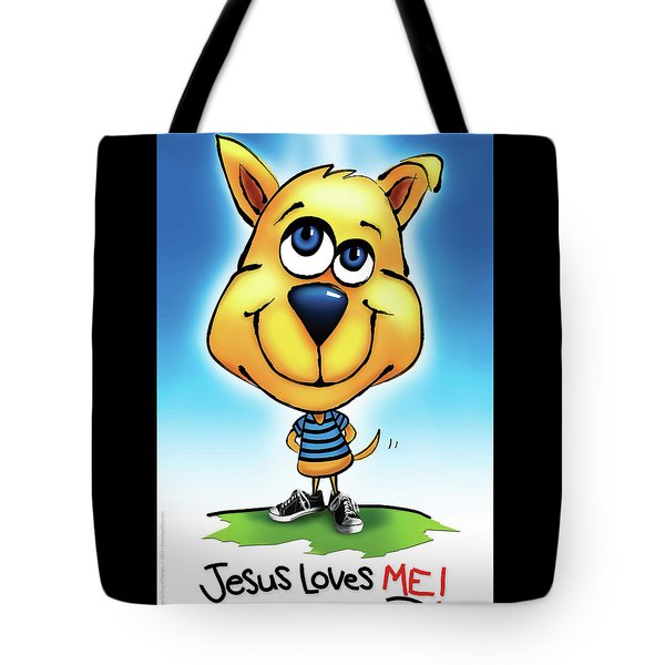 Tote Bag featuring the digital art Jesus Loves Me by Shevon Johnson