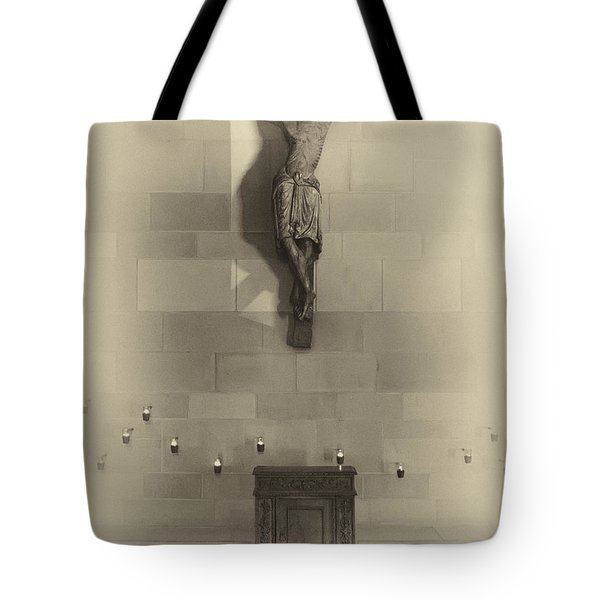 Jesus On The Cross Chapel Icon Tote Bag by Daniel Hagerman