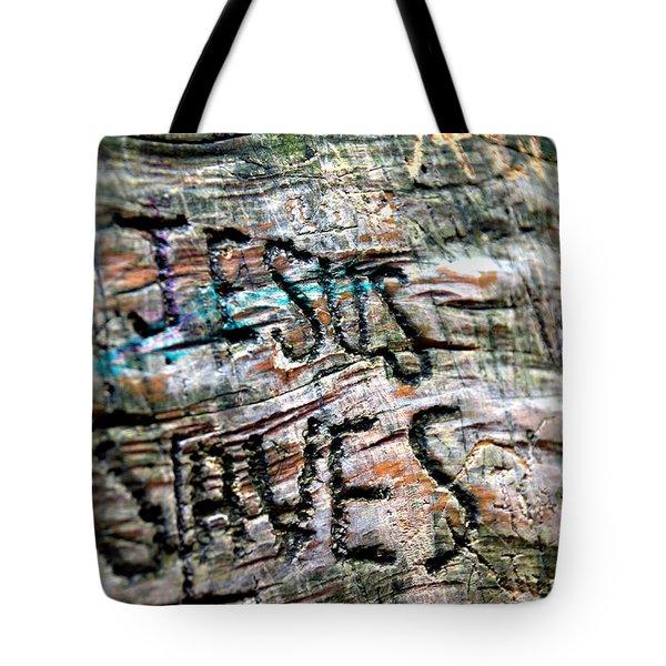 Jesus Saves Tote Bag