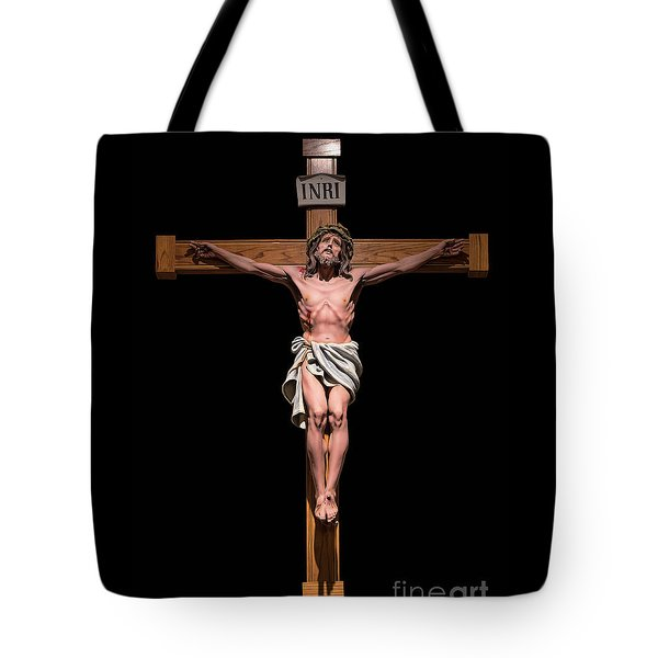 Tote Bag featuring the photograph Jesus, Savior Of The World by Bonnie Barry