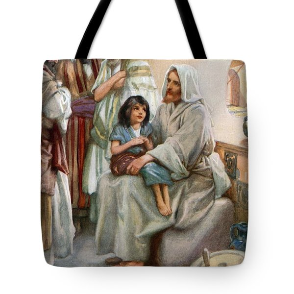 Jesus Teaching The People Tote Bag by Arthur A Dixon