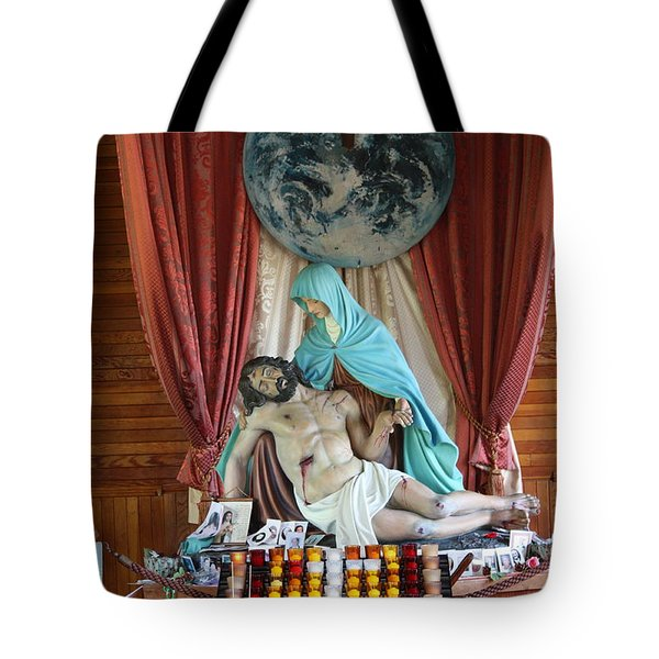Tote Bag featuring the photograph Jesus The Christ by Robin Regan