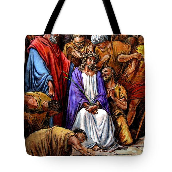 Jesus Tormented Tote Bag by John Lautermilch