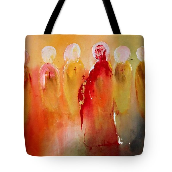 Jesus With His Apostles Tote Bag