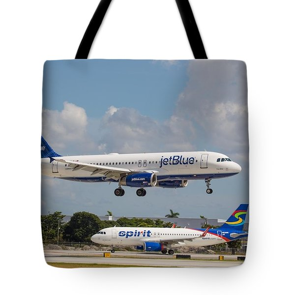 Jetblue Over Spirit Air Tote Bag