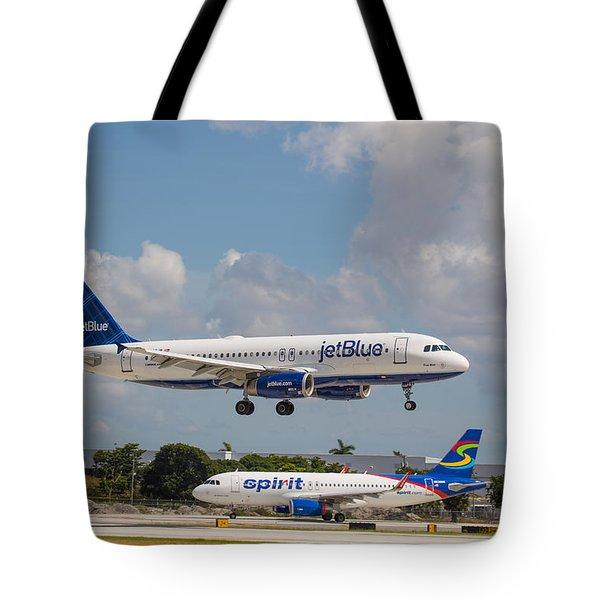 Jetblue Over Spirit Tote Bag