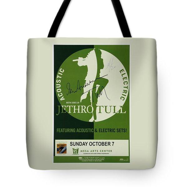 Jethro Tull Signed Poster Tote Bag