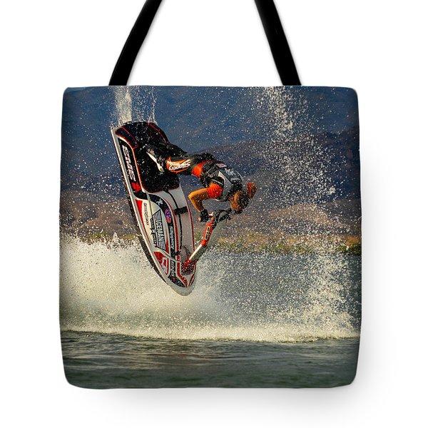 Jetski Flip Tote Bag