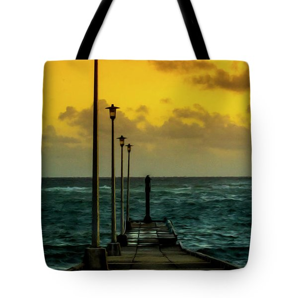 Jetty At Sunrise Tote Bag