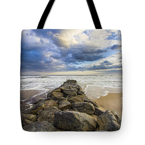 Jetty Four Cloudscape Tote Bag