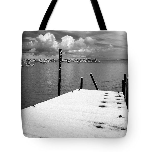 Jetty, Rhos-on-sea Tote Bag