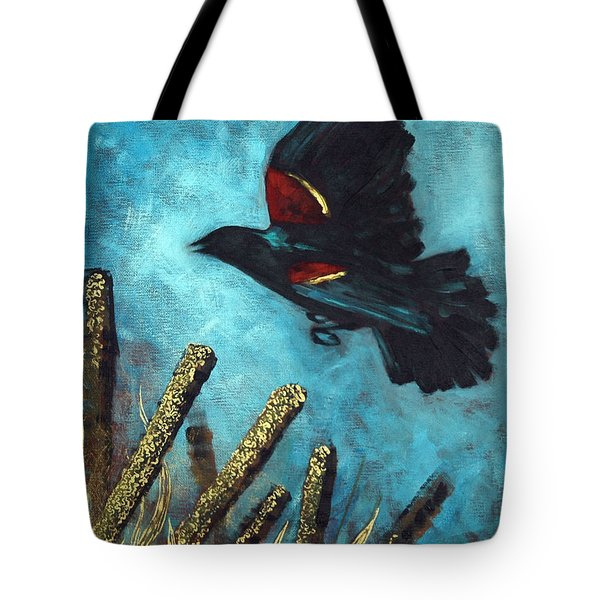 Jewel Among The Cattails Tote Bag
