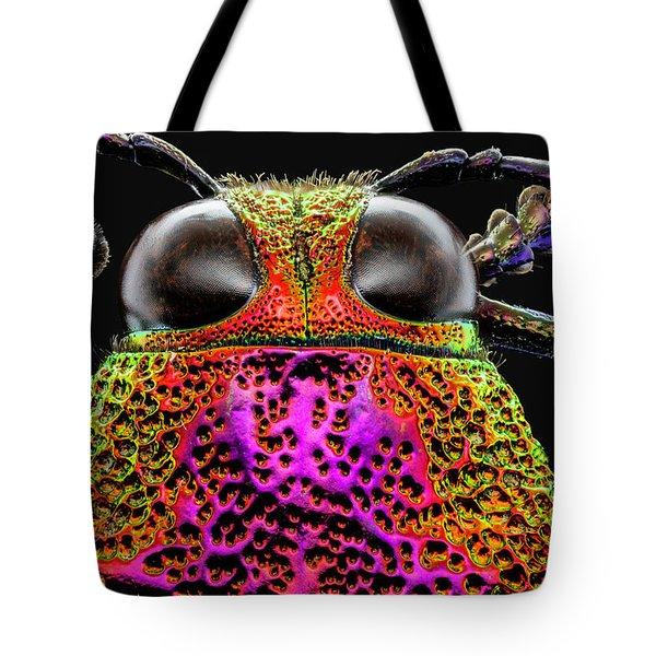 Jewel Beetle 3x Tote Bag