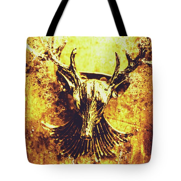 Jewel Deer Head Art Tote Bag