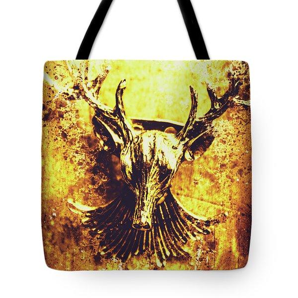 Jewel Deer Head Art Tote Bag