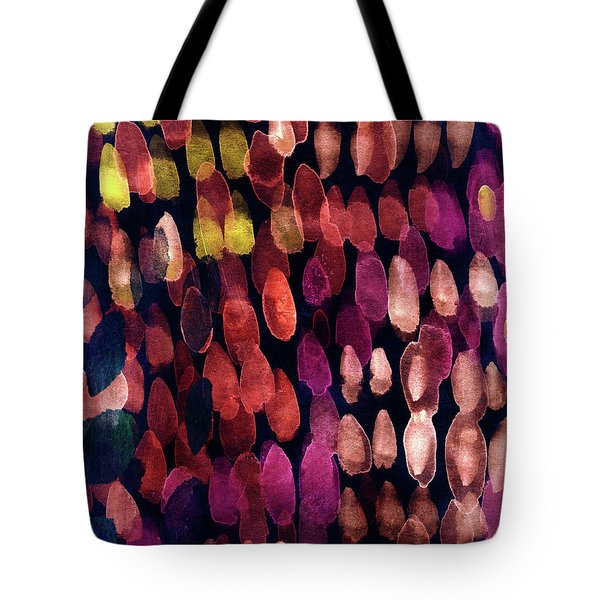 Jewel Drops- Abstract Art By Linda Woods Tote Bag