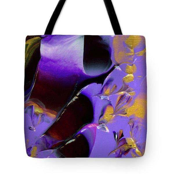 Jeweled Amethyst Tote Bag
