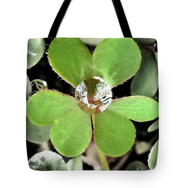 Jeweled Clover Tote Bag by Lorella Schoales