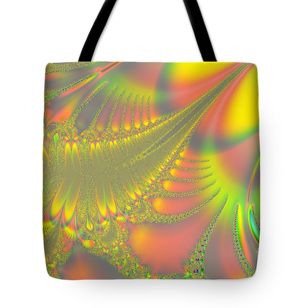Jeweled Feather Tote Bag